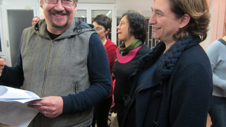 Xavier Domenech y Ada Colau.