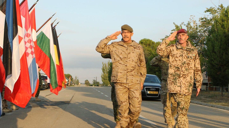 El teniente general Fernando Alejandre (izquierda), en un acto de la OTAN.