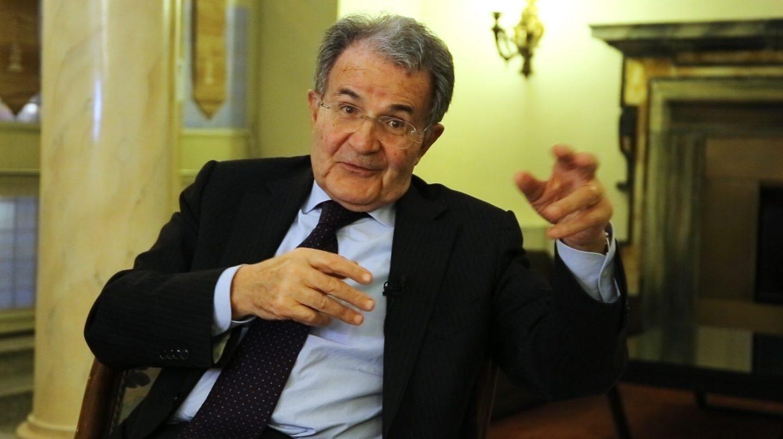 El ex presidente de la Comisión Europea Romano Prodi, durante la entrevista en Roma.