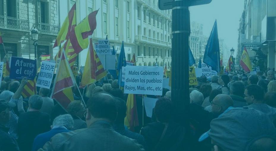 Manifestación en Barcelona contra el procés.