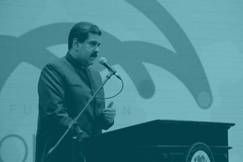 el líder chavista, Nicolás Maduro, en una de sus intervenciones.