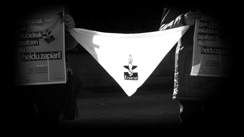 Protesta contra la dispersión de presos de ETA.