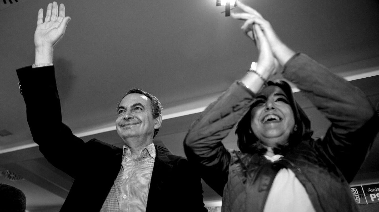 José Luis Rodríguez Zapatero y Susana Díaz.