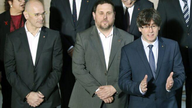 Romeva, Junqueras y Puigdemont.