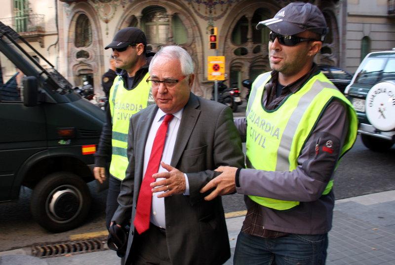 Andreu Viloca, ex tesorero de CDC, el día de su detención, en octubre de 2015.