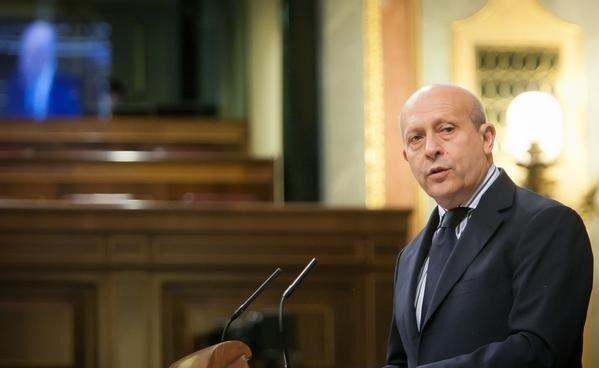 El ex ministro de Educación Juan Ignacio Wert a final de mayo de 2015, en su última intervención en el Congreso.