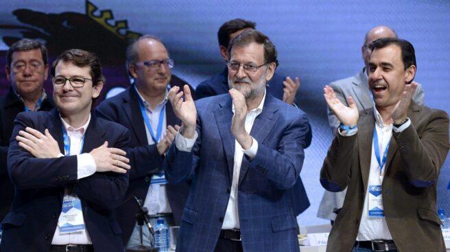 Mañueco, Rajoy y Maillo, este sábado en Castilla y León.