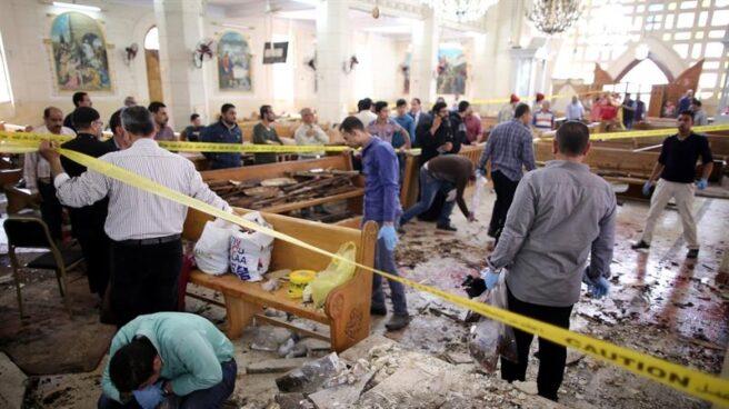 Atentado contra una iglesia en Tanta, a 90 kilómetros de El Cairo.