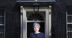 Theresa May, durante su comparecencia de este martes.