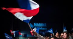 Mitin de Marine Le Pen en Marsella en la campaña de las elecciones presidenciales francesas