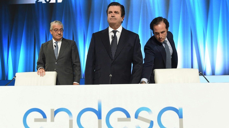 El presidente de Endesa, Borja Prado, en la junta de accionistas de 2017.