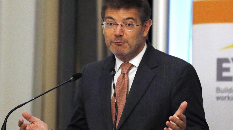 El titular de Justicia, Rafael Catalá, durante su intervención en la mañana del jueves.