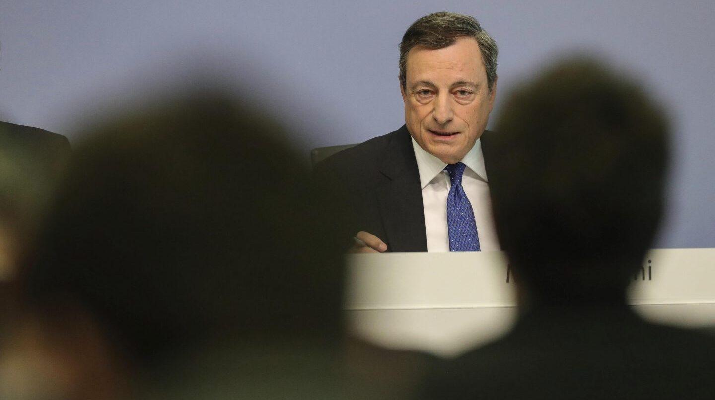 El presidente del BCE, Mario Draghi, durante una comparecencia en Fráncfort.