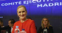Cristina Cifuentes en la reunión de la ejecutiva del PP de Madrid