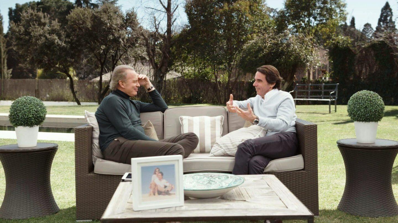 Bertín Osborne y José María Aznar
