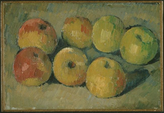 Bodegón con manzanas, de Paul Cézanne, que John Maynard Keynes adquirió en una subasta en París en 1918.