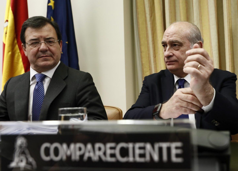 Daniel de Alfonso y Jorge Fernández, en la Comisión de Interior del Congreso.