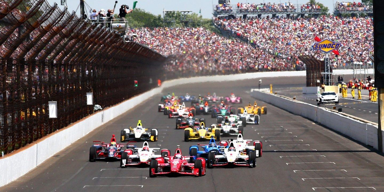 Imagen del circuito de Indianapolis, durante el Indy 500.