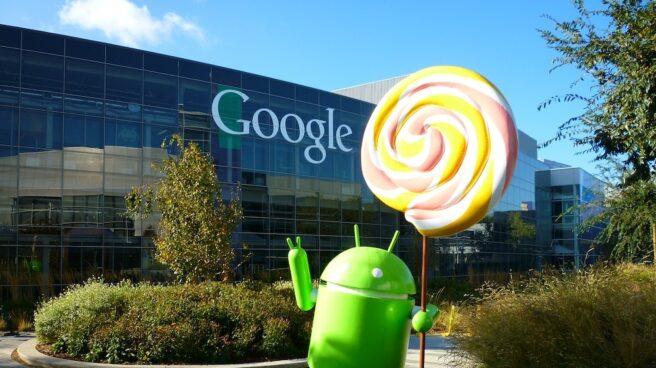 Fachada de la sede de Google, en California.