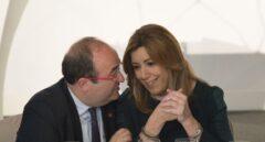 Miquel Iceta y Susana Díaz, en un acto en Barcelona.