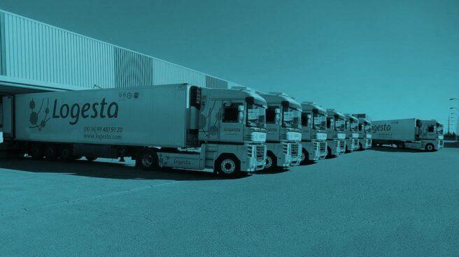 Camiones de Logesta, la filial de distribución del grupo Logista.