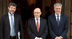 Alberto Nadal, Cristóbal Montoro y José Enrique Fernández de Moya.