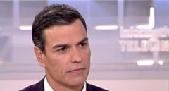 Pedro Sánchez, durante la entrevista en Telecinco.
