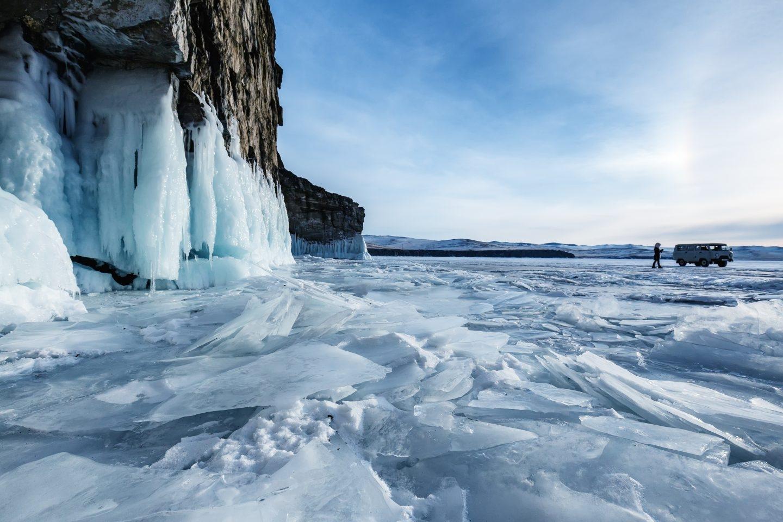 El lago Baikal en la región sur de Siberia.