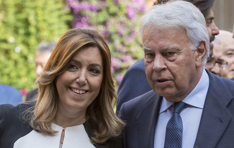 Susana Díaz y Felipe González, en el aniversario del AVE.