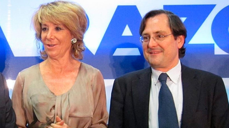 Esperanza Aguirre y Francisco Marhuenda, en un acto organizado por 'La Razón'.