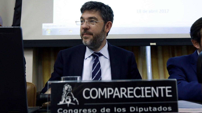 El secretario de Estado de Presupuestos, Alberto Nadal, durante su comparecencia en el Congreso de los Diputados para hablar de los Presupuestos y las CCAA.