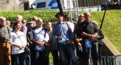 Acto del desarme de ETA en Bayona, con Josu Zabarte, el Carnicero de Mondragón, entre los protagonistas.
