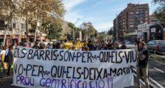Manifestación contra el hotel de Atarazanas,el pasado diciembre en Barcelona.