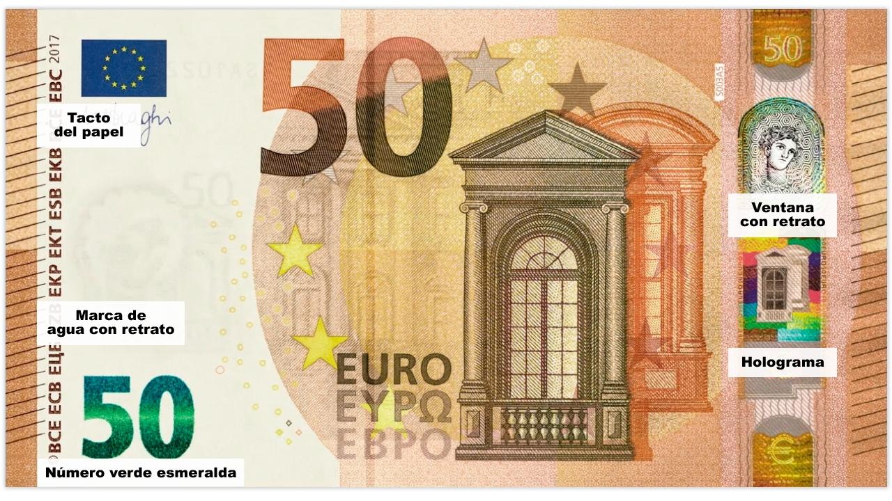 Foto de un billete de 50 euros 39