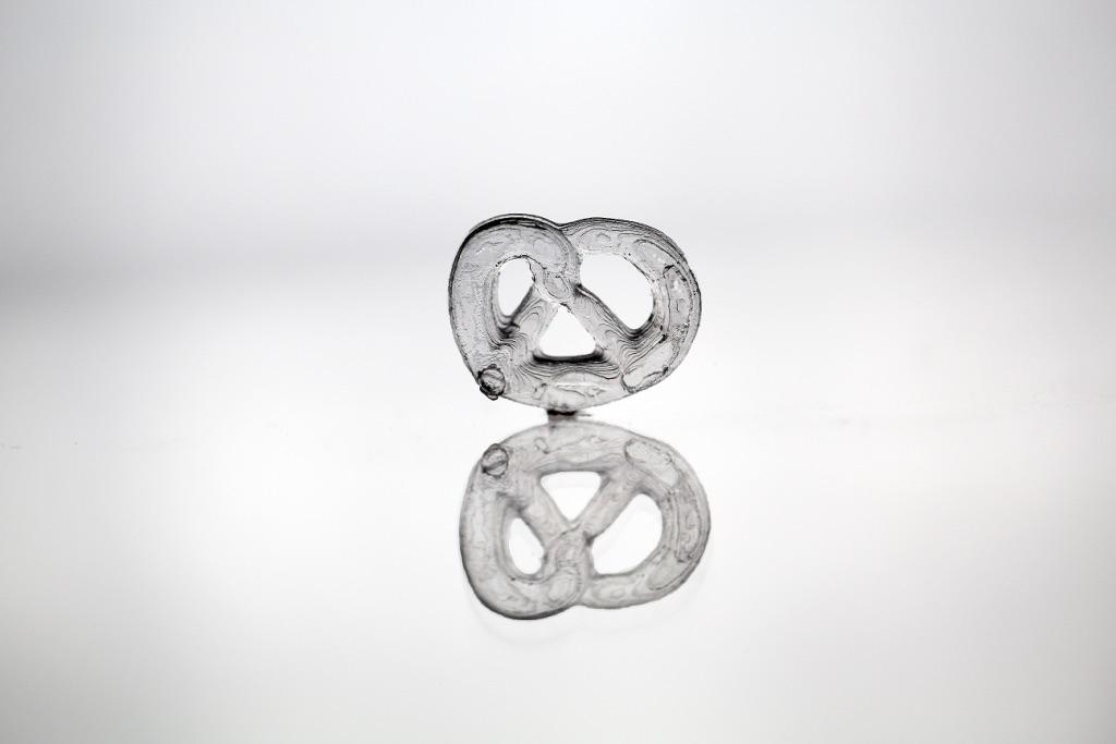 Brezel impreso en vidrio