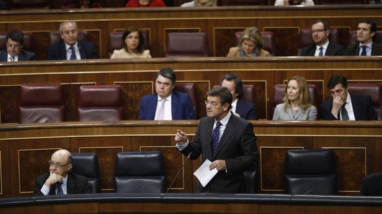 El ministro de Justicia, Rafael Catalá, durante la sesión de control al Gobierno del pasado miércoles.