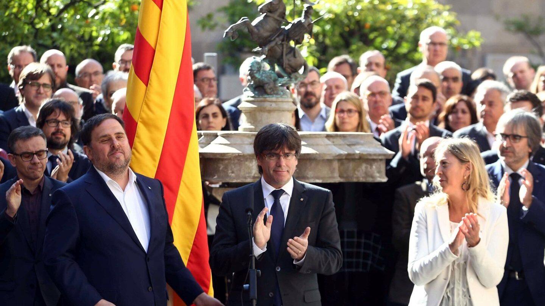 Oriol Junqueras, Carles Puigdemont y Neus Munté.