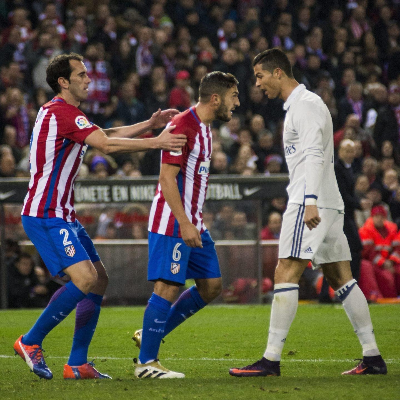 Godín, Koke y Cristiano Ronaldo.