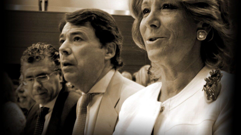 Francisco Granados, Ignacio González y Esperanza Aguirre.