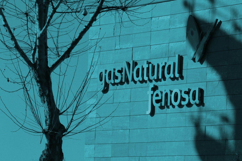 Logo de Gas Natural Fenosa en su sede de Madrid.