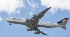 Un Boeing 747 en pleno vuelo.