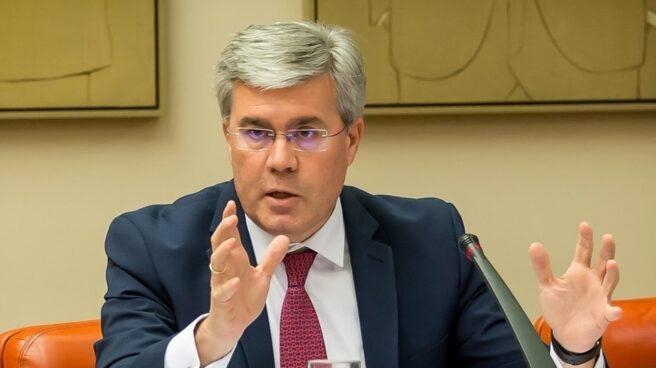 El secretario de Estado de Hacienda, José Enrique Hernández de Moya, en comparecencia en sede Parlamentaria.