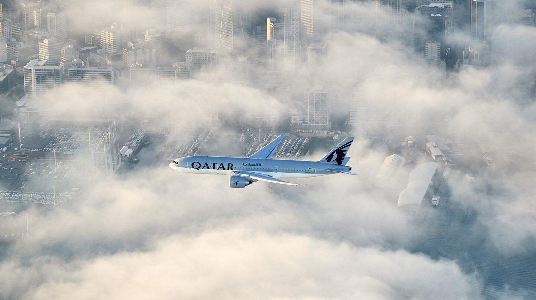 Un avión de la aerolínea Qatar Airways.