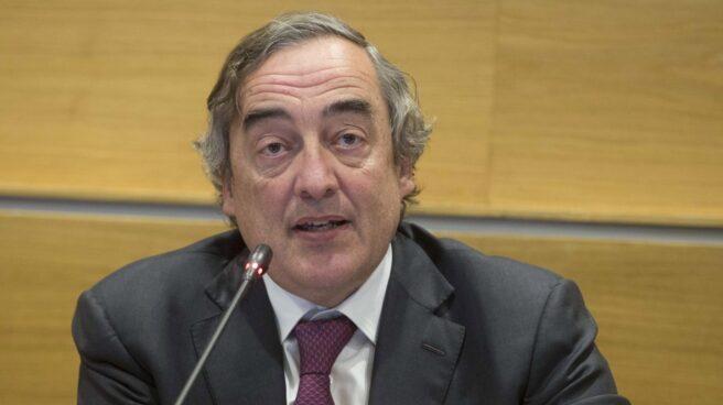 El presidente de la CEOE, Juan Rosell, en rueda de prensa.