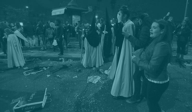 Incidentes en el pasado Viernes Santo en Sevilla.