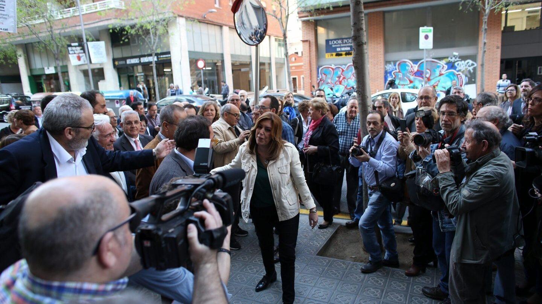 Susana Díaz, este jueves en Barcelona.