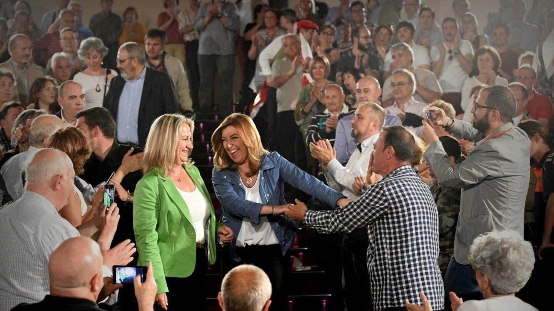 Susana Díaz en un acto en Alcalá de Henares.