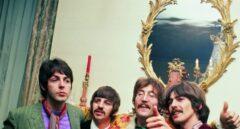 The Beatles en casa de su manager, Brian Epstein durante la fiesta de lanzamiento de 'Sgt. Pepper's Lonely Hearts Club Band', el 19 de mayo de 1967.
