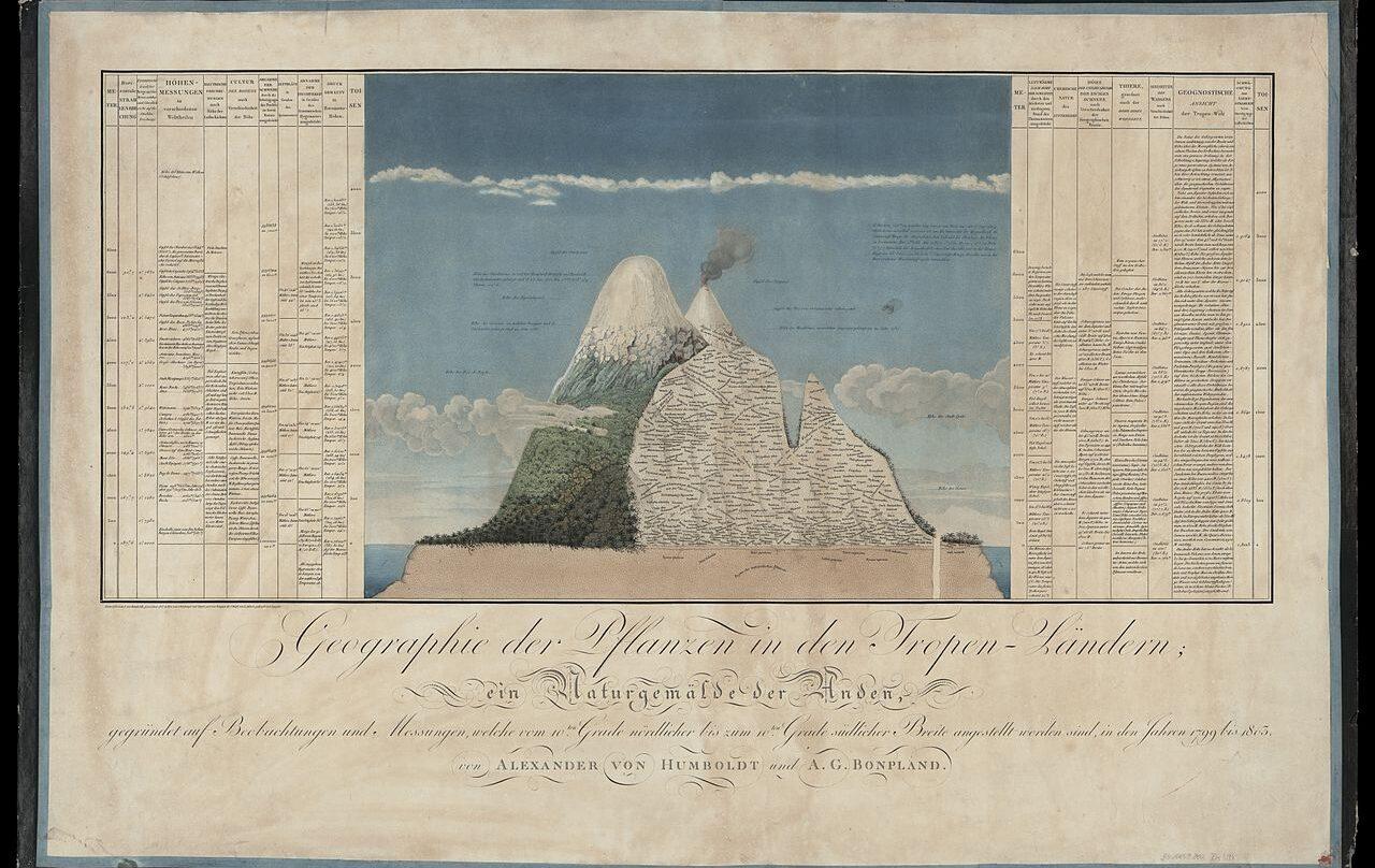 Naturgemälde, el mapa sobre el ecosistema de Los Andes con el que Humboldt sorprendió a la ciencia en el siglo XIX.
