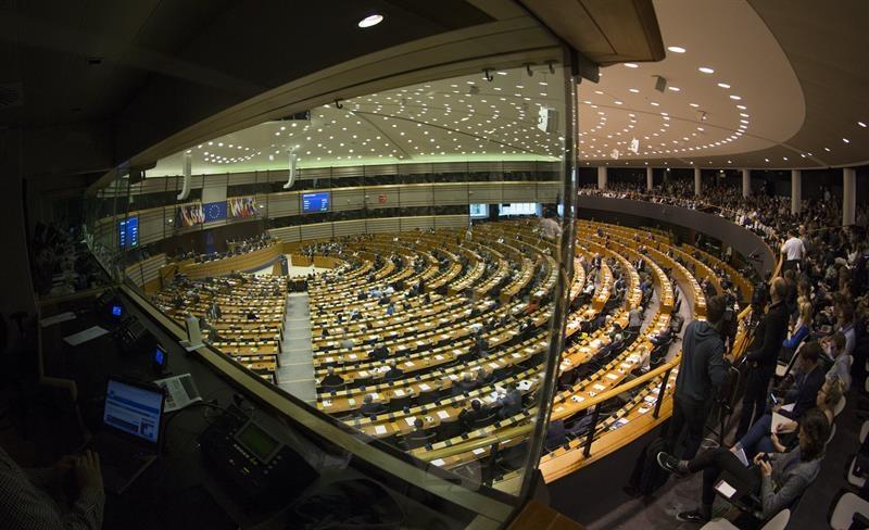 La eurocámara del Parlamento Europeo, donde se presentó el informe sobre evasión fiscal.